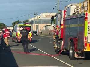 Van fire at Mackay riverfront