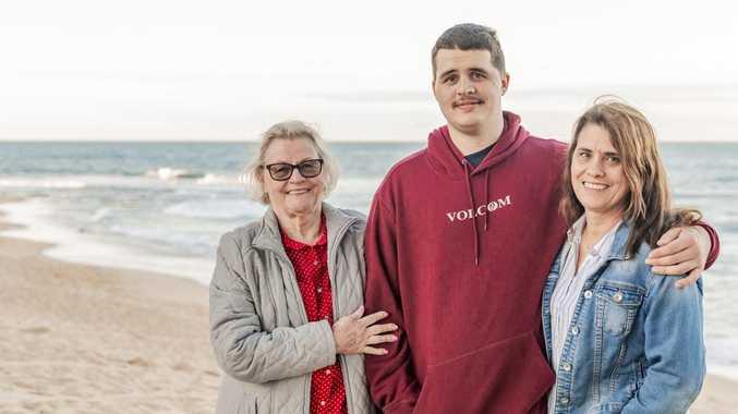 Coast gentle giant survives 'catastrophic' brain aneurysm
