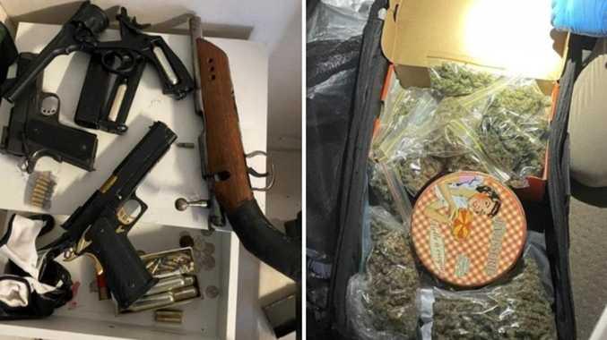 Guns, drugs, cash found in jail trafficking bust