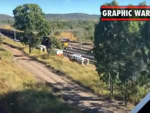 Train crash near Rockhampton, one dead and another injured