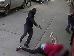 Horrifying moment gunman fires at kids