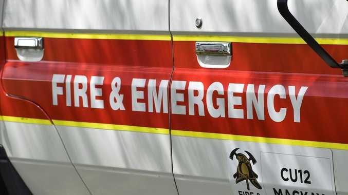 Car crashes into power pole in North Rockhampton