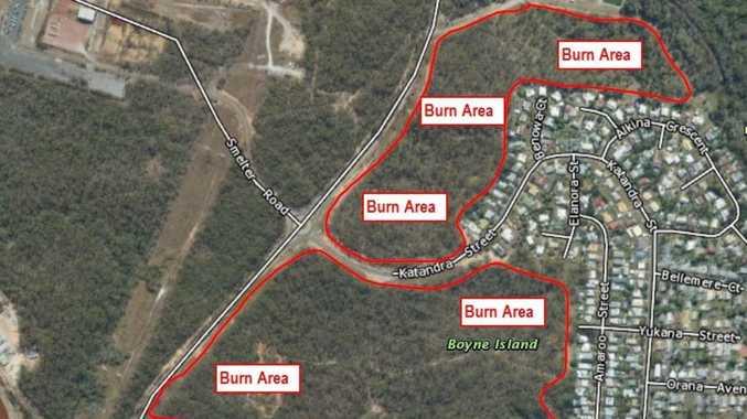 Planned burn of Boyne Island bushland