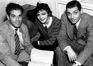 It Happened One Night (1934 film), Columbia Pictures. Director Frank Capra, Actors Claudette Colbert, Clark Gable.