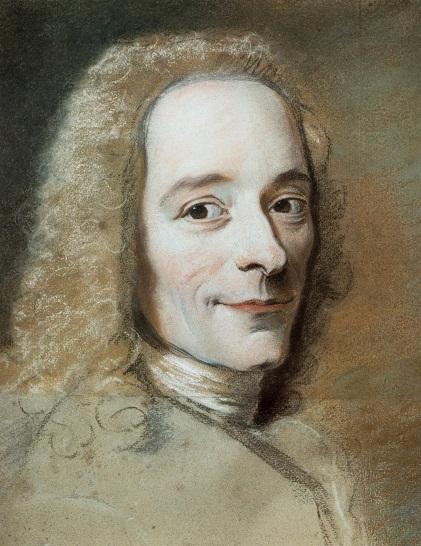 Pastel of Voltaire by Maurice Quentin de La Tour, 1735