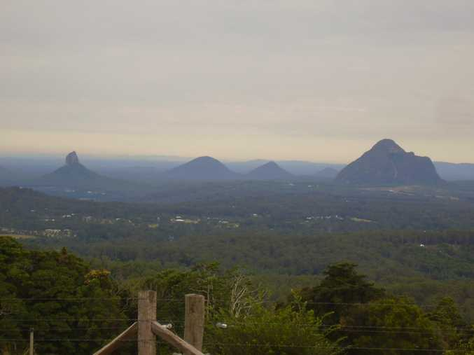 The Glass House Mountains as viewed from Mary Cairncross Scenic Reserve at gorgeous Maleny! What a view!