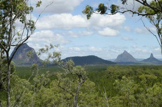 The beautiful Glass House Mountains. Photo: contributed
