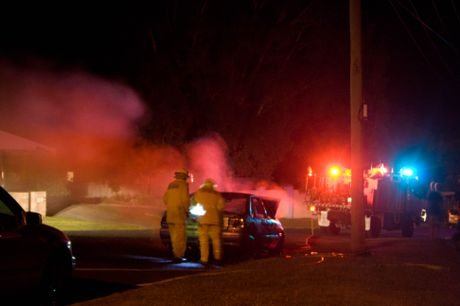 Moonee Beach Car Explosion - User Contributed