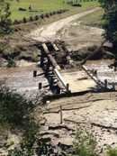 Deck removed from Foggs Bridge, Harlin