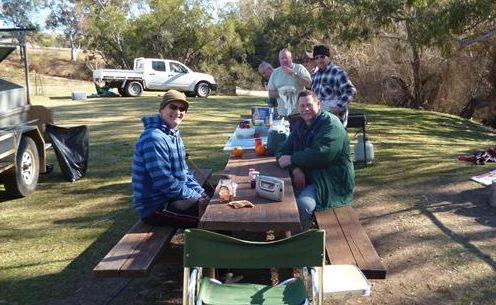 Greg Johnson's 90-year-old cncle John and cousins near Texas 2012, seniors all!