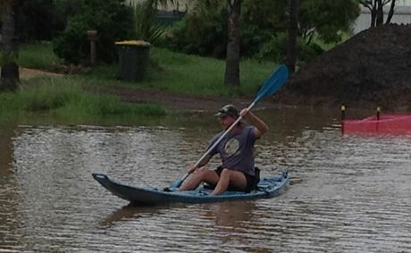 A Dalby resident puts a positive spin on the floods.