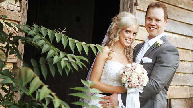 Andrew and Nicole Page tie the knot at Gabbinbar Homestead.