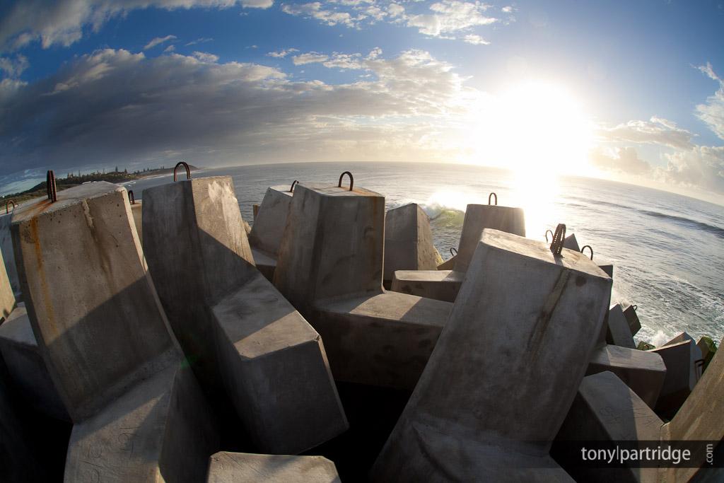 Blocks on North Wall, Ballina, taken by Tony Partridge.