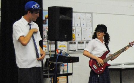 Performers from Brainstorm Productions 'Verbal Combat' in their quest to promote reflection and discussion about friendship, bullying, body image and the way teenagers interact at school and on the internet.