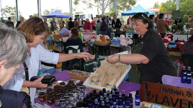 Kathy Keogh, from Scenic Rim Lavender at the 2012 event