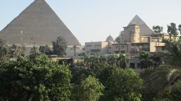 The Great Pyramid taken from Mena House, Cairo. Oct.2013