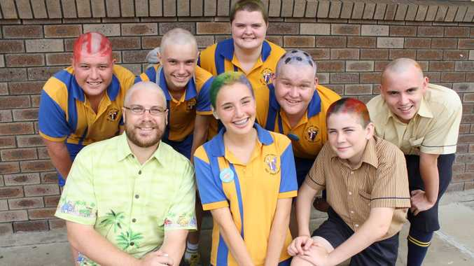 Top Team for the World's Greatest Shave for a Cure in support of the Leukaemia Foundation.  Pictured – Back Row: Alex Mitchell, Clayton Willing, Daneeka Chudleigh, Lachlan Kane, Liam Brown.  Front Row: Mr Anton Mayer-Miller, Lisa Kley, Bailey Anderson.