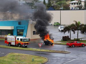 Witness of Yeppoon car fire has never seen anything like it