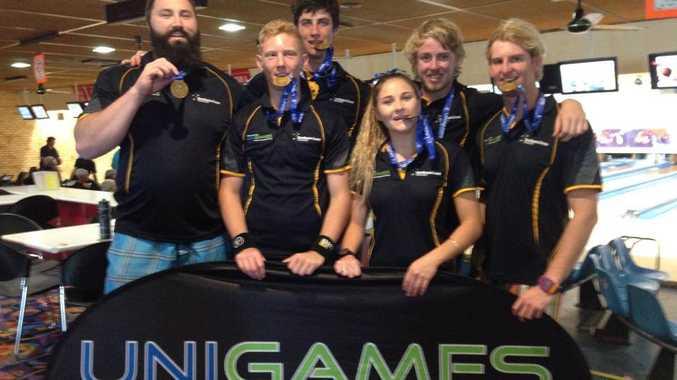 Southern Cross University Ten Pin Bowling Team takes GOLD
