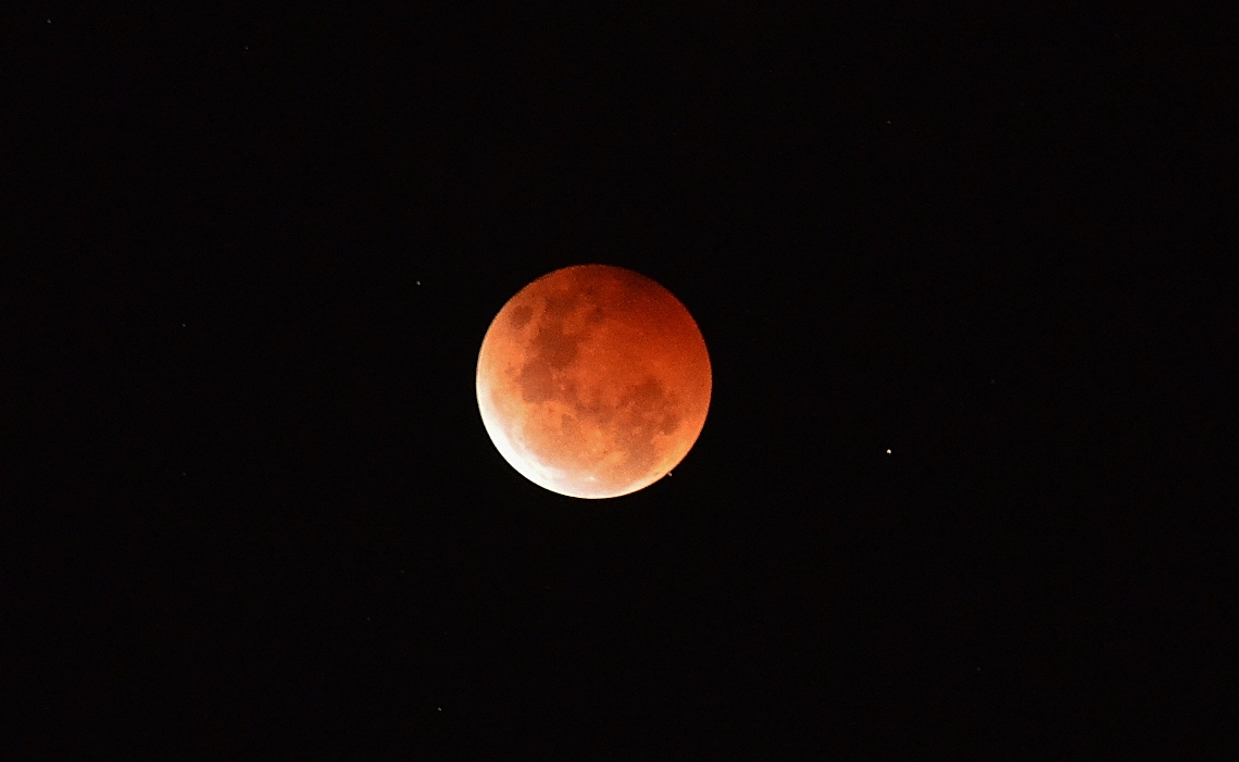 The Lunar Eclipse (Blood Moon) on Wednesday Night 08/10/14 Photographer: Cassie Williams