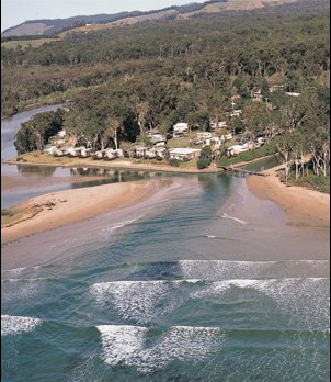 Arrawarra beach and creek.