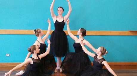 From bottom left Evie Ford(pcyc dance academy ) Alivia Boyce(toowoomba school of dance) Chloe Heinrich (Southern star academy)Lucy Hood(toowoomba school of dance) Holly Bradley(toowoomba school of dance)