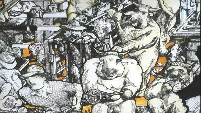 Beef Artist draws on humor