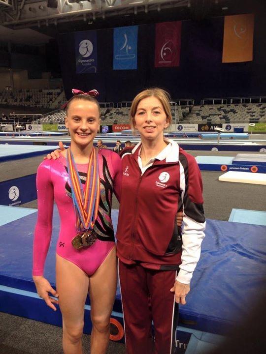 Imogen Beardsley & Coach Rimma Lazarus