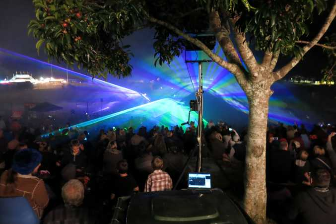Laser Light Show at Maleny Show