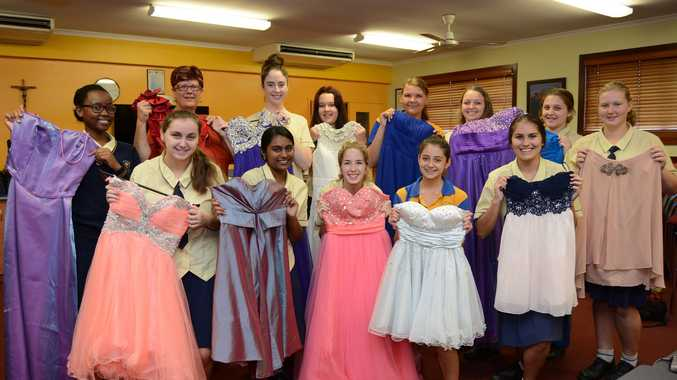 Holy Spirit College 'Z' Club collected formal dresses for drought-affected Central Queensland families.