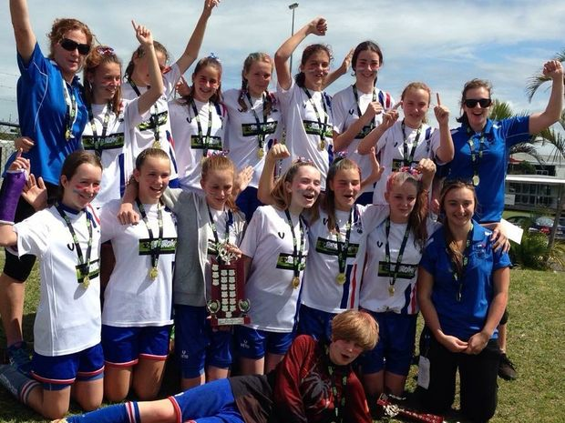 under 14 girls 2015 champions 3rd year in a row