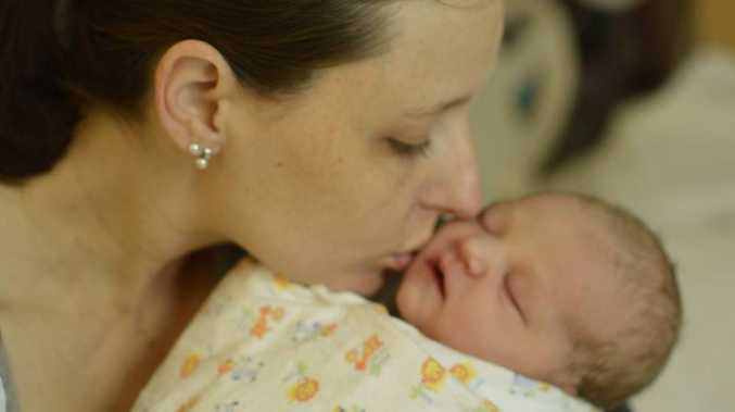 Mother's kiss transfers protection to baby.