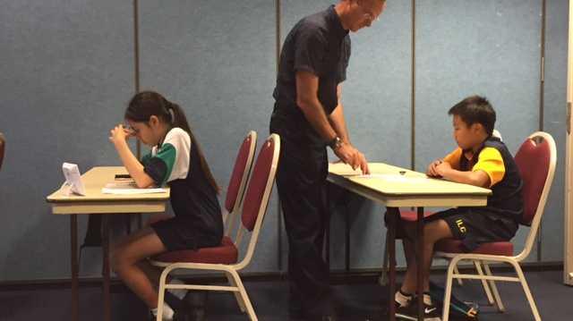 Anthony instructing newly enrolled students