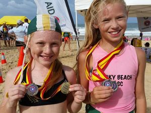 Scarlet and Ashley shine in nippers championships