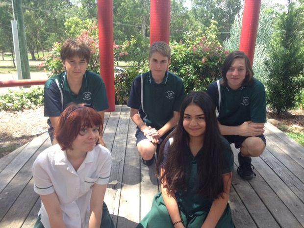 Top row;  Minagi Van Wyk, Jack O'Brien and Regan Greentree  Bottom  row;  Aisha Darmansjah and Finn Kotiau