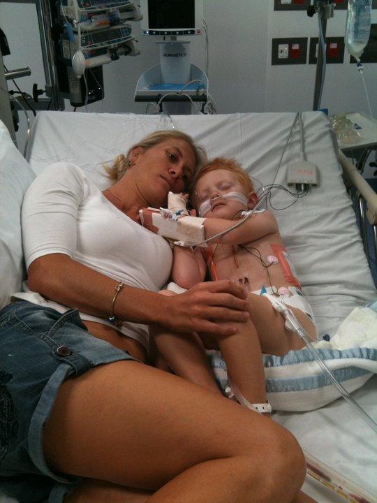 Ryder Worth with Mum Caroline will lead this Sundays charity walk