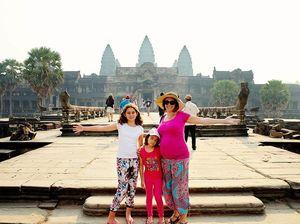 Storytellers visit Angkor Wat temple complex