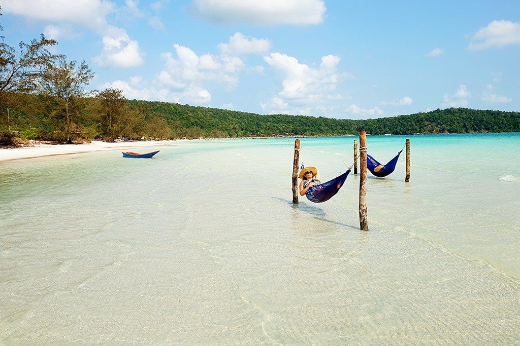 Blissful relaxation at the amazing Koh Rong Samloem, Cambodia.