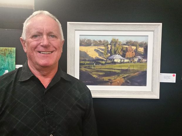 John at the Kenilworth Art Prize with his winning entry