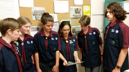 Venturer Scouts Planning the Celebrations