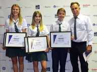 THREE Noosa District State High School students were presented with prestigious awards at the Aerospace Education Awards.