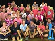 Noosa District State High School supported the McGrath breast cancer Foundation last Friday with a Pink Stumps cricket challenge, which saw the Pomona campus staff, the Pomona Punishers, take on the Cooroy campus staff, the Cooroy Crushers, after school in the Cooroy campus hall.