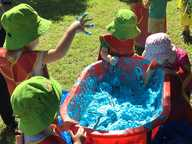 Laughter could be heard echoing throughout Groom Park on Tuesday morning, as more than 50 children from across Toowoomba joined together to celebrate National Playgroup Week.