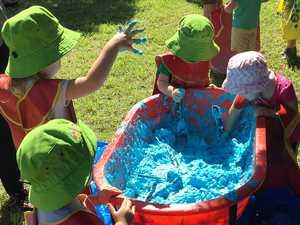 Kids get messy during National Playgroup Week!