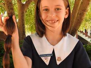 Toowoomba girl generously gifts hair