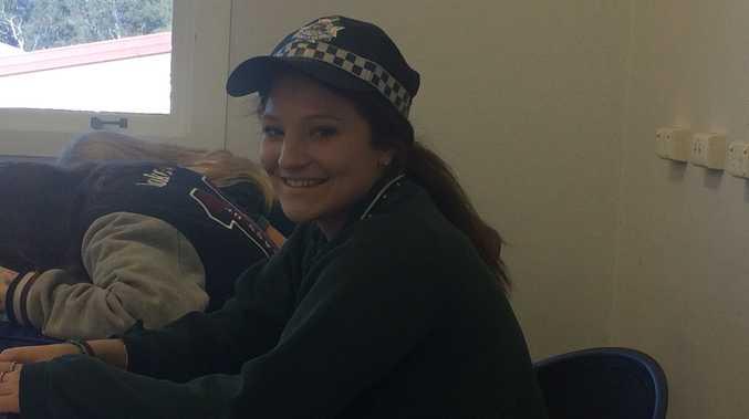 NDSHS students cop a presentation on law enforcement