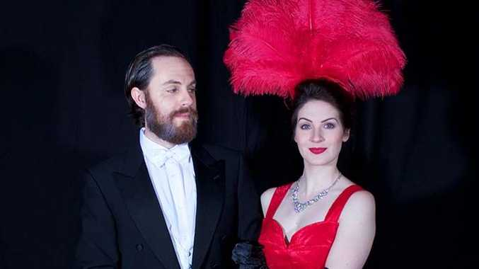 Justin Tamblyn and Shannon Gralow in Hello, Dolly!