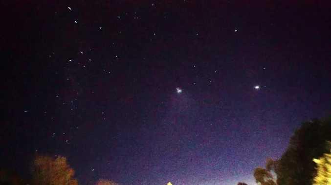 HUGE GLOWING UFO