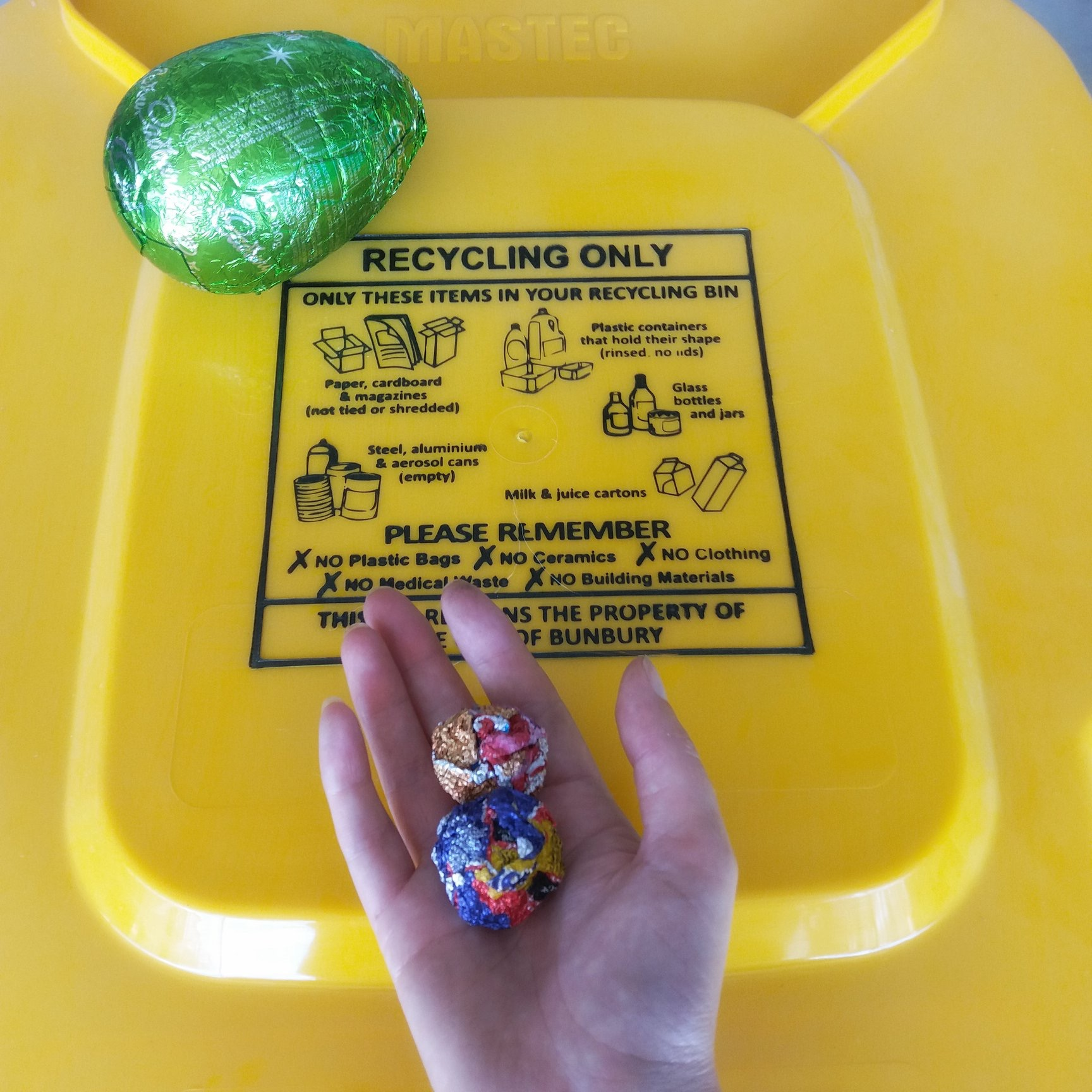 Recycle your Easter egg wrappers