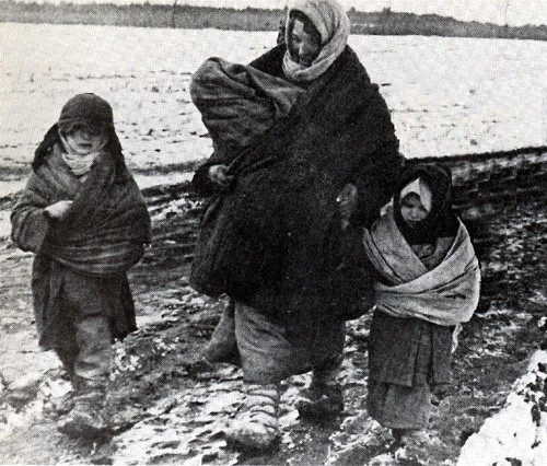 Polish Deportees ('Sybiraks') in the Winter of 1940.
